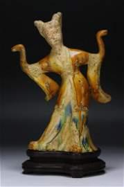 A Chinese Antique SANCAI Glazed Figure Of Beauty