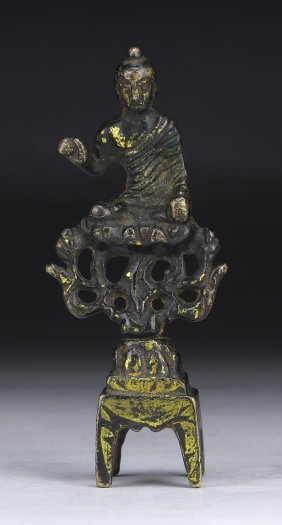A Chinese Antique Gilt Bronze Figure