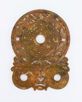 A Big Chinese Antique Archaic Jade Bi
