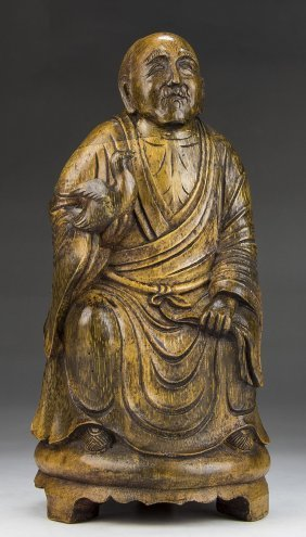 A Chinese Bamboo Carved Figure