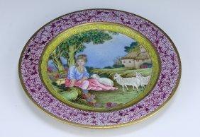 A Chinese Antique Export Falang Enamel Gilt Porcelain