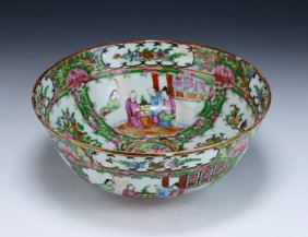 A Chinese Rose Medallion Porcelain Bowl