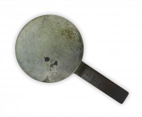 A Japanese Antique Bronze Hand Mirror