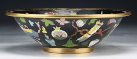 A Chinese Antique Cloisonne On Bronze Bowl