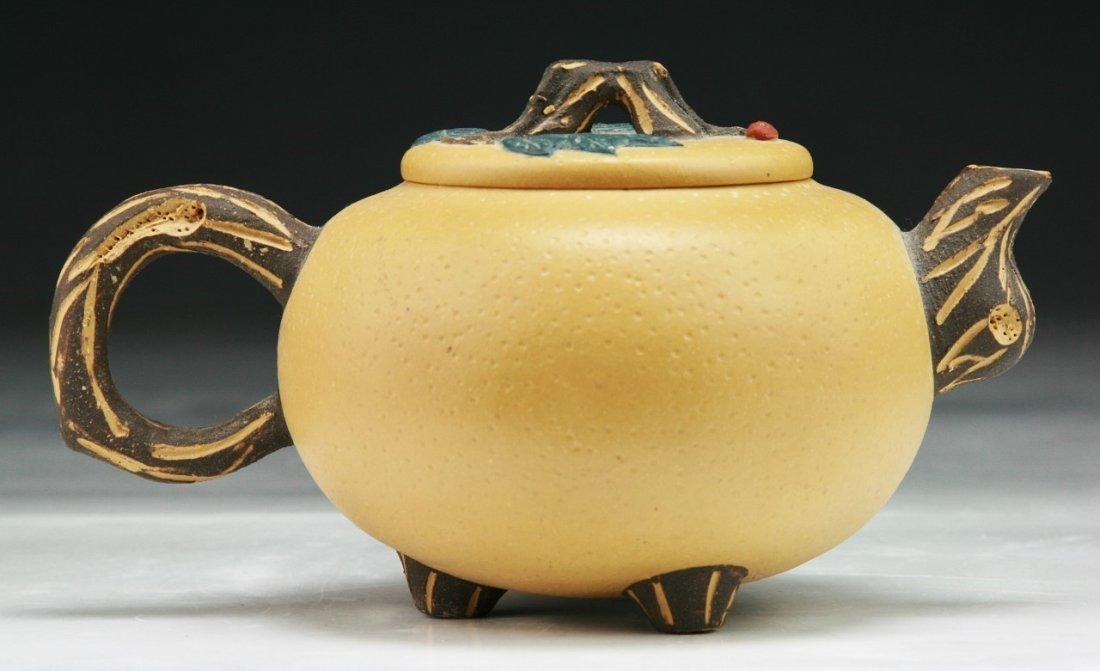 A Chinese Antique Yixing Zisha Teapot - 2