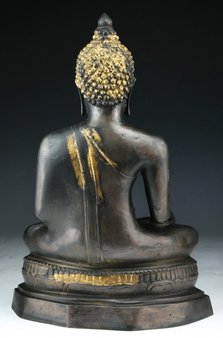 A Chinese Antique Bronze Buddha - 2