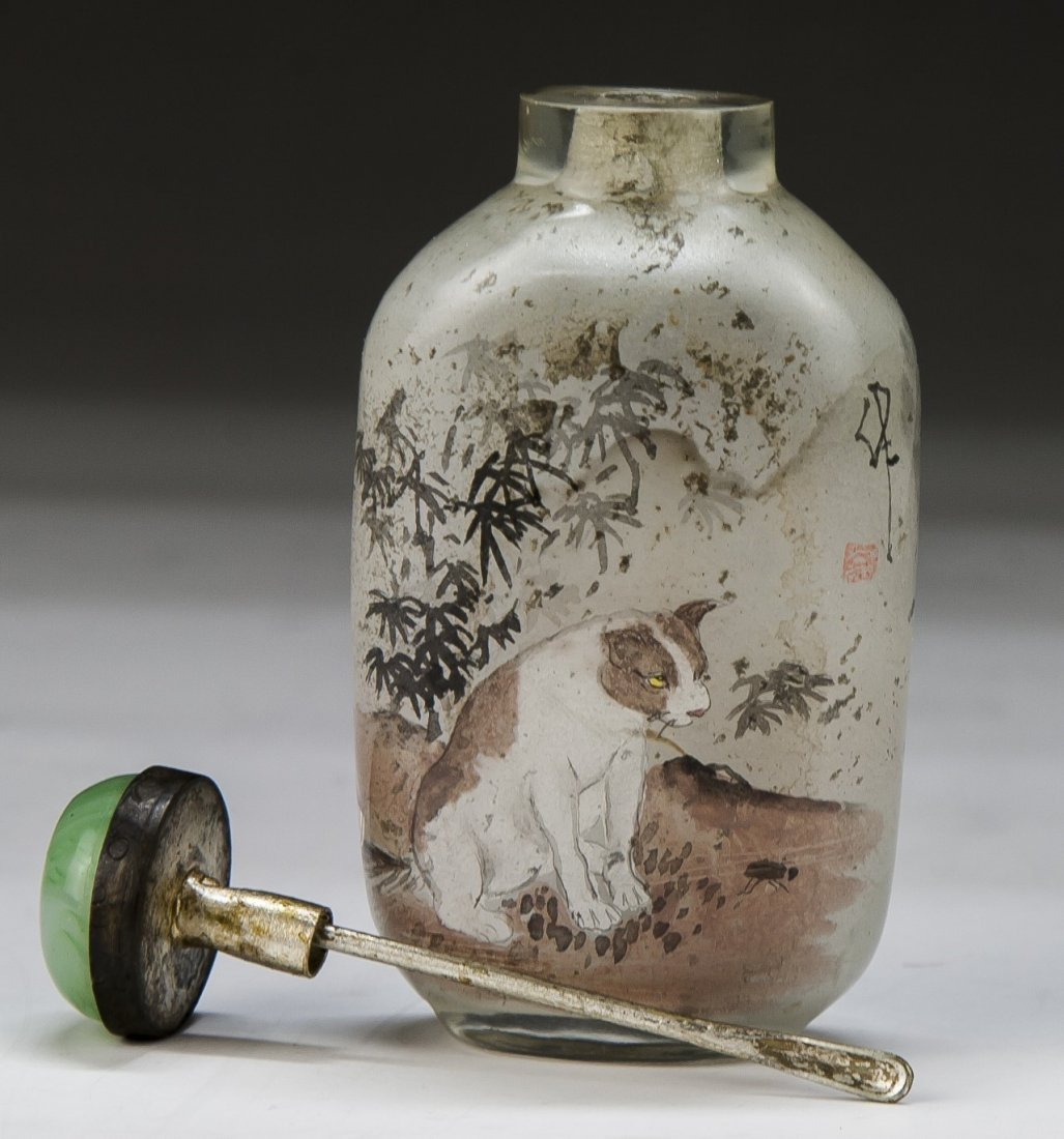 A Chinese Antique Inside Painted Glass Snuff Bottle - 2