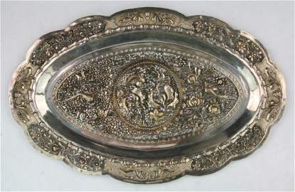 A Chinese Antique Export Silver Platter