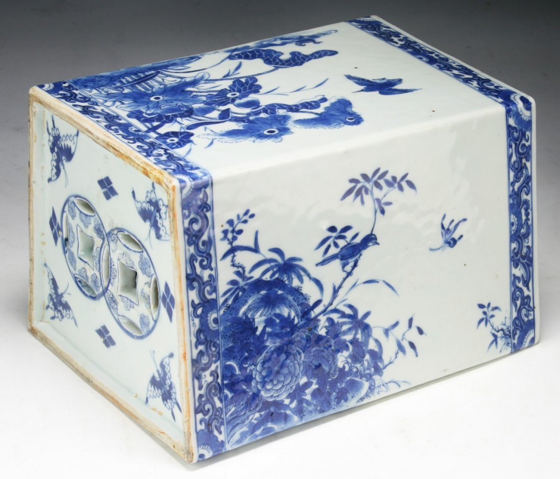 A Chinese Antique Blue & White Porcelain Pillow