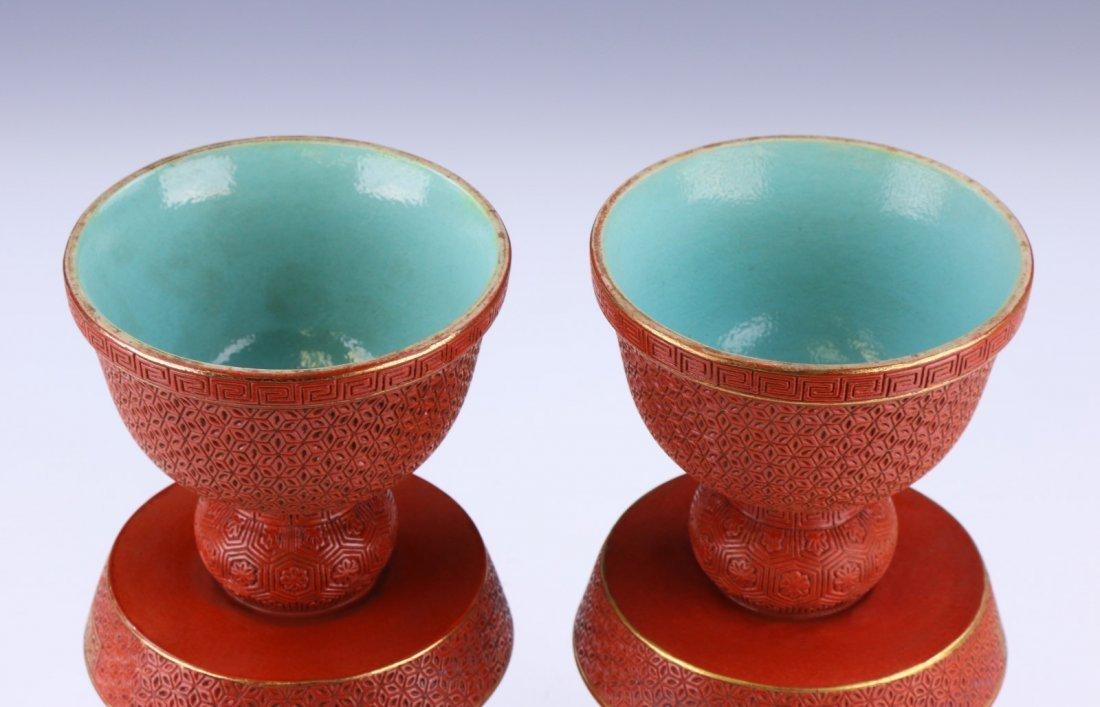 Rare Pair 'Imitation-Lacquer' Style Porcelain - 3