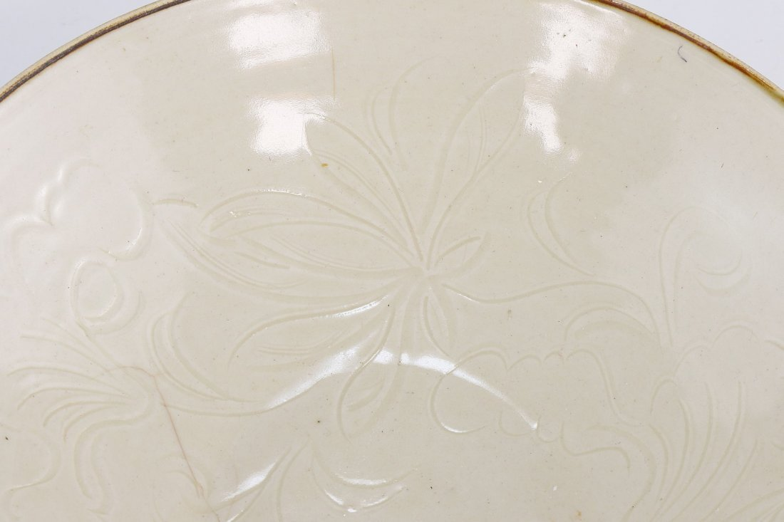 A Rare Dingyao Incised 'Daylily' Bowl - 5