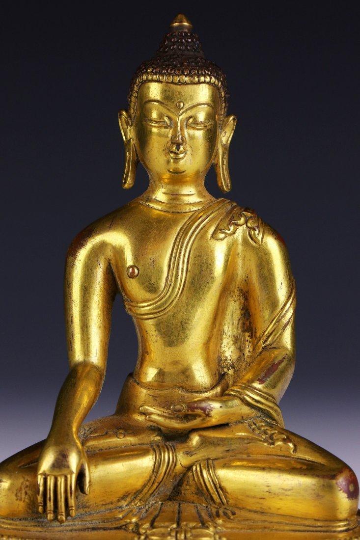 A Chinese Antique Gilt Bronze Buddha - 3