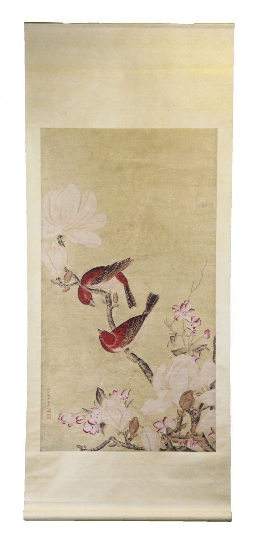 A Chinese Antique Paper Painting By Wang, Chengpei - 4
