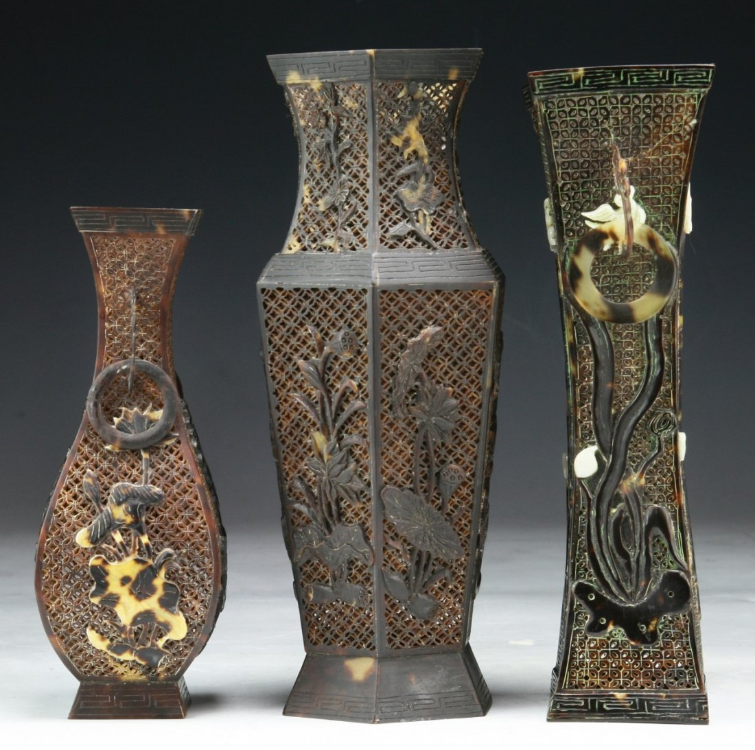 Three (3) Chinese Antique Tortoise-Shell Vases - 3