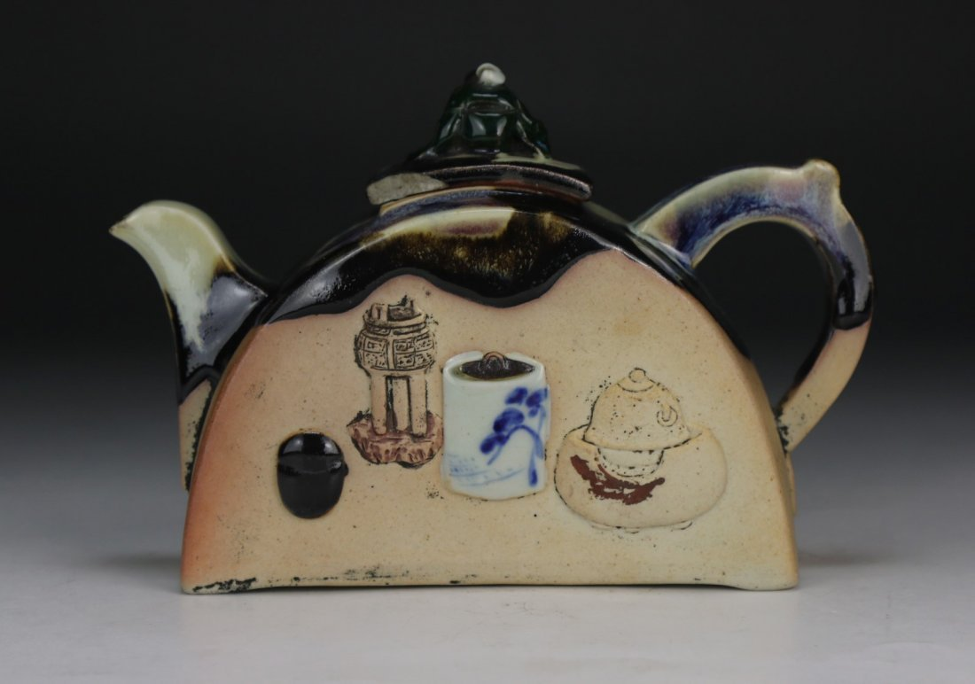 A Japanese Sumidagawa Porcelain Teapot - 3