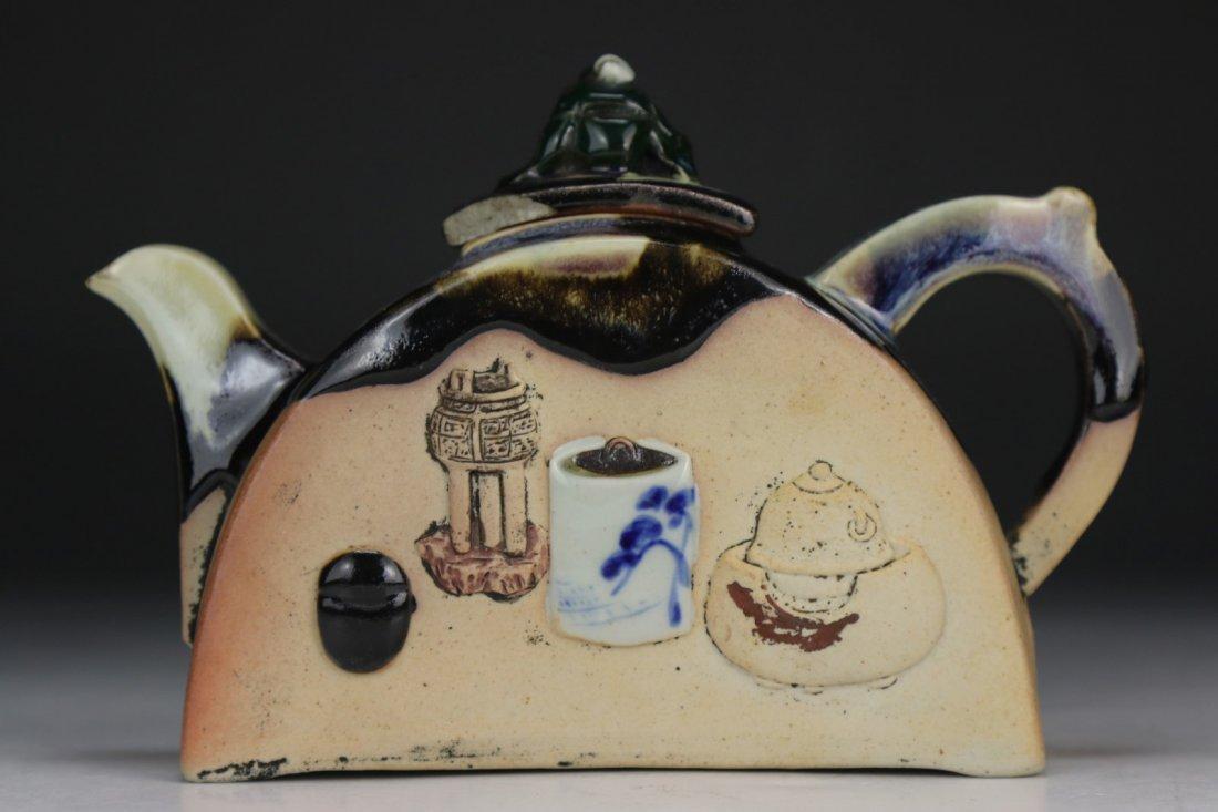 A Japanese Sumidagawa Porcelain Teapot - 4