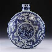 A CHINESE ANTIQUE BLUE  WHITE WINE POT