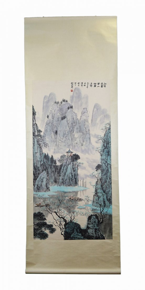A Chinese Antique Paper Painting By Bai Xueshi - 3