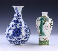 TWO (2) JAPANESE ANTIQUE PORCELAIN VASES