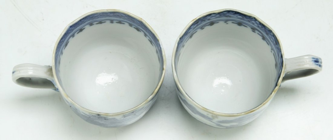 PAIR CHINESE ANTIQUE BLUE & WHITE PORCELAIN CUPS - 3