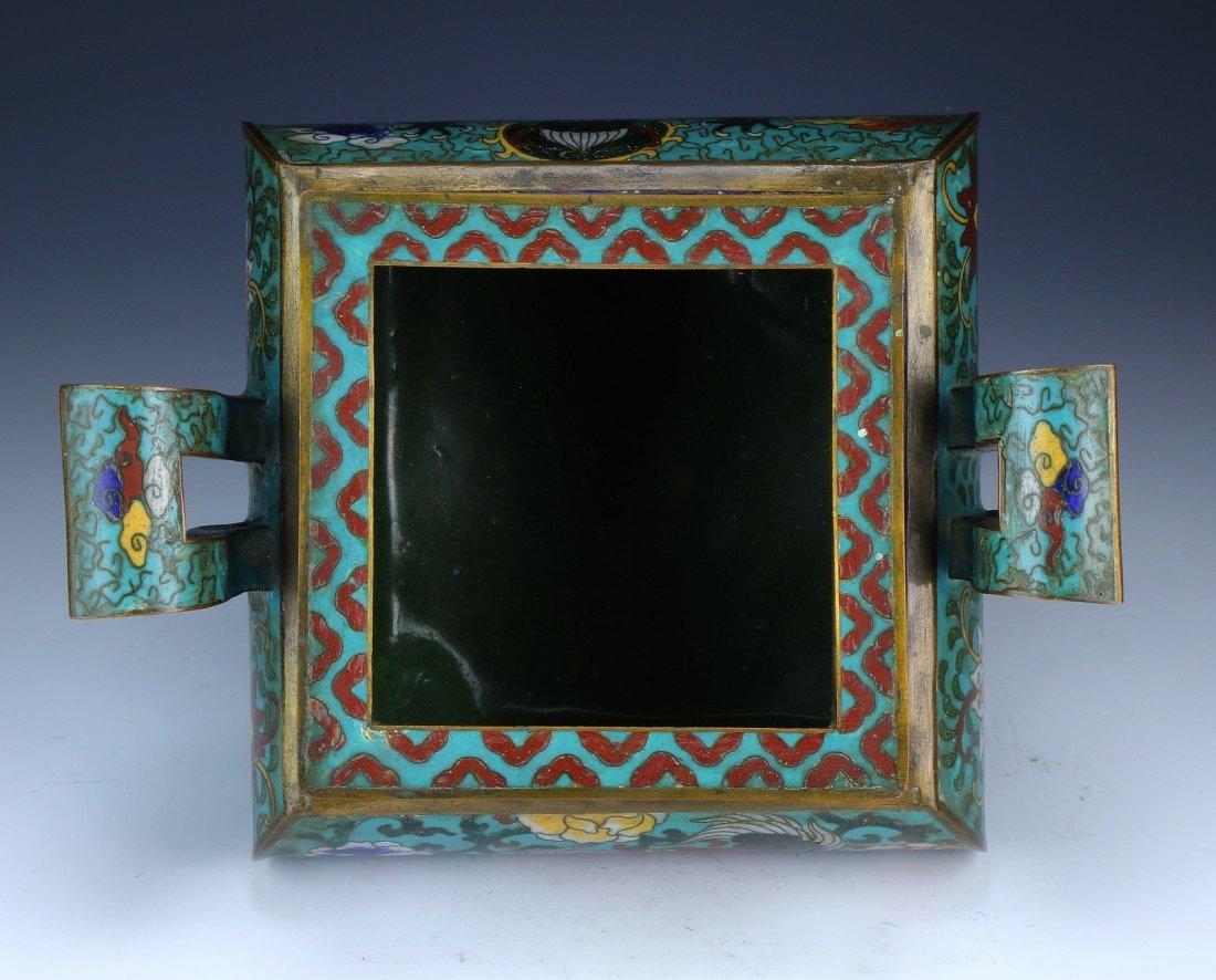 A Chinese Enamel Cloisonne On Bronze Censer - 3