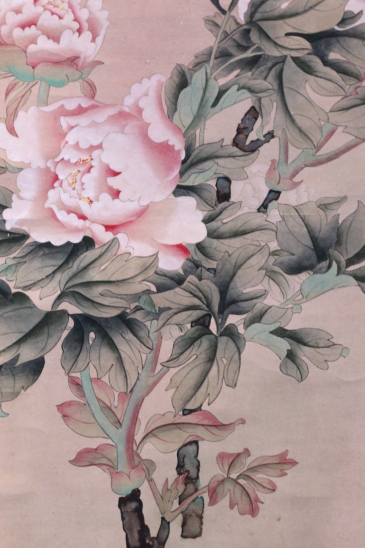 A CHINESE PAPER HANGING PAINTING SCROLL - 4