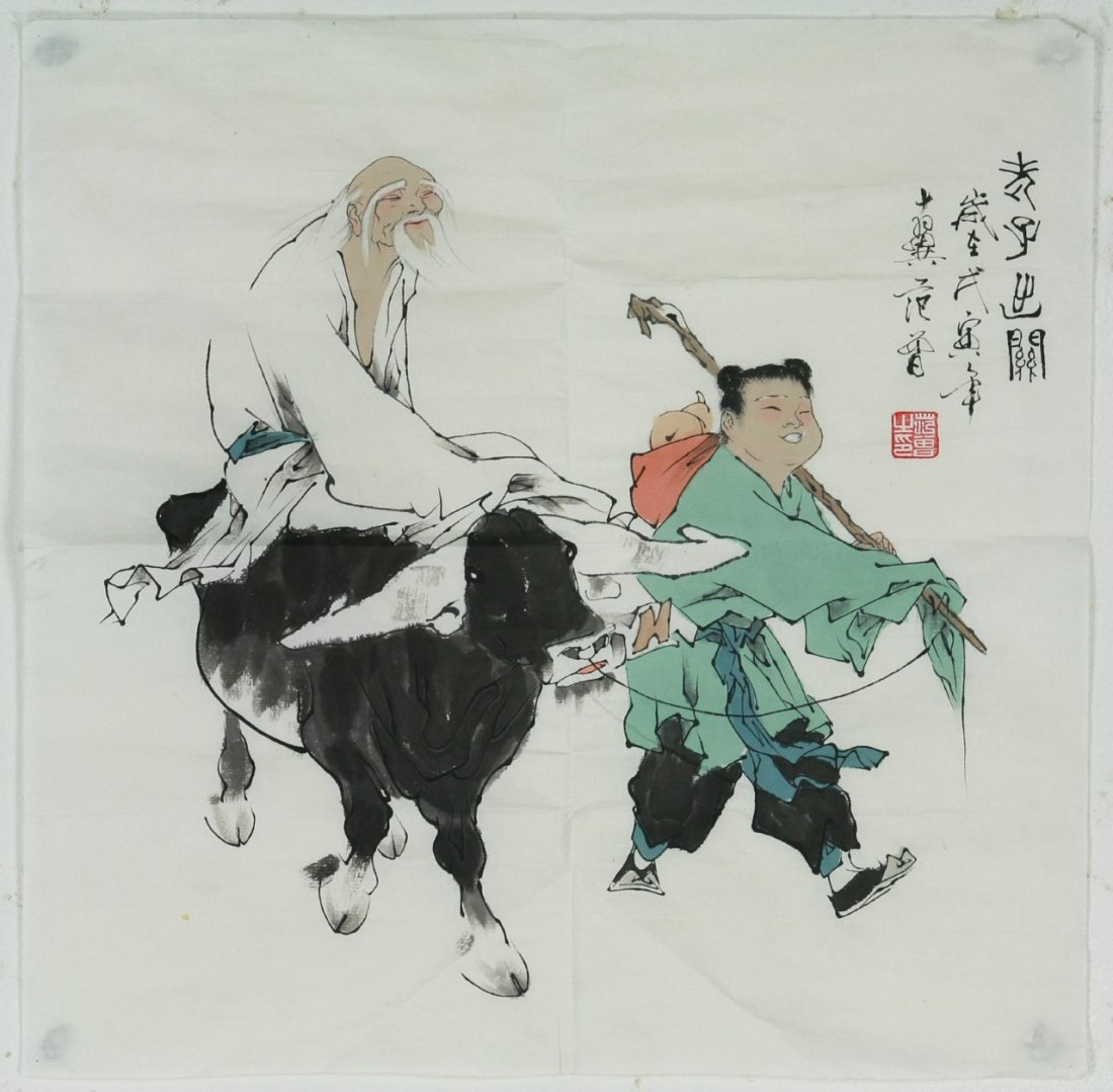 Two (2) Chinese Unmounted Paper Paintings - 5