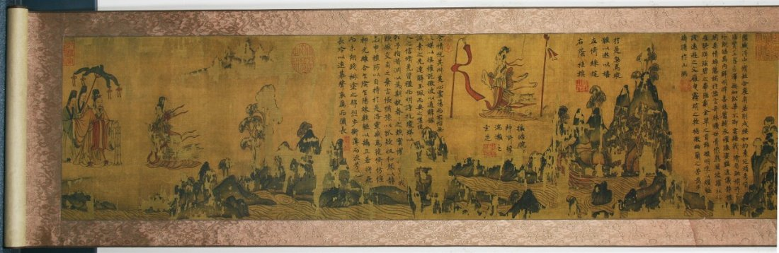 A FINE CHINESE ANTIQUE PAPER PAINTING HAND SCROLL - 4