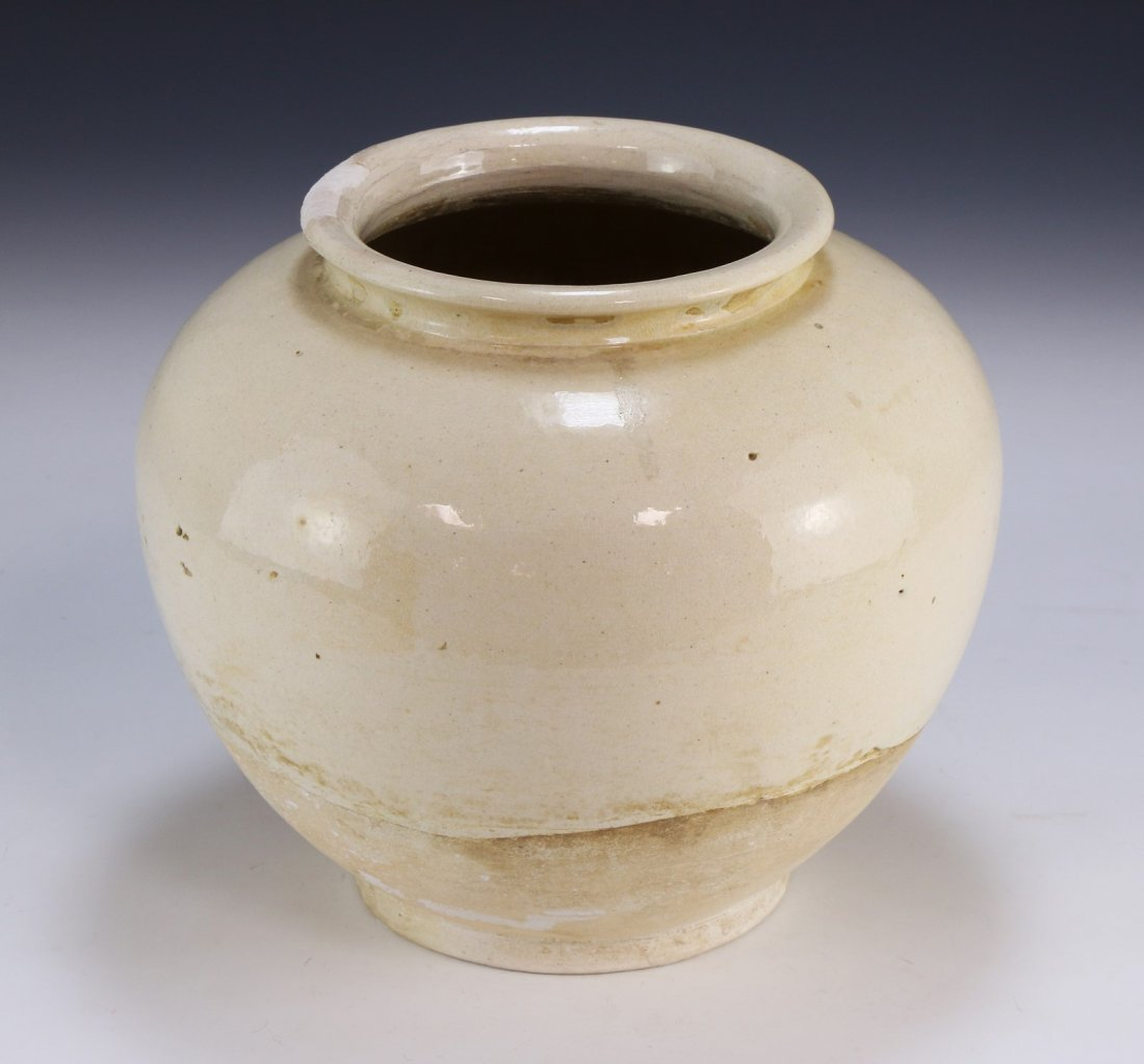 A Chinese Antique White Glazed Porcelain Vase