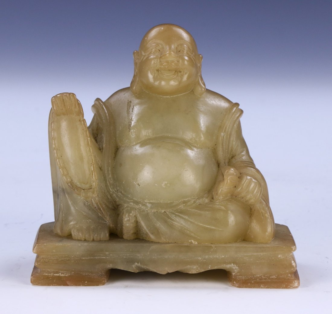 A Chinese Antique Soapstone Buddha