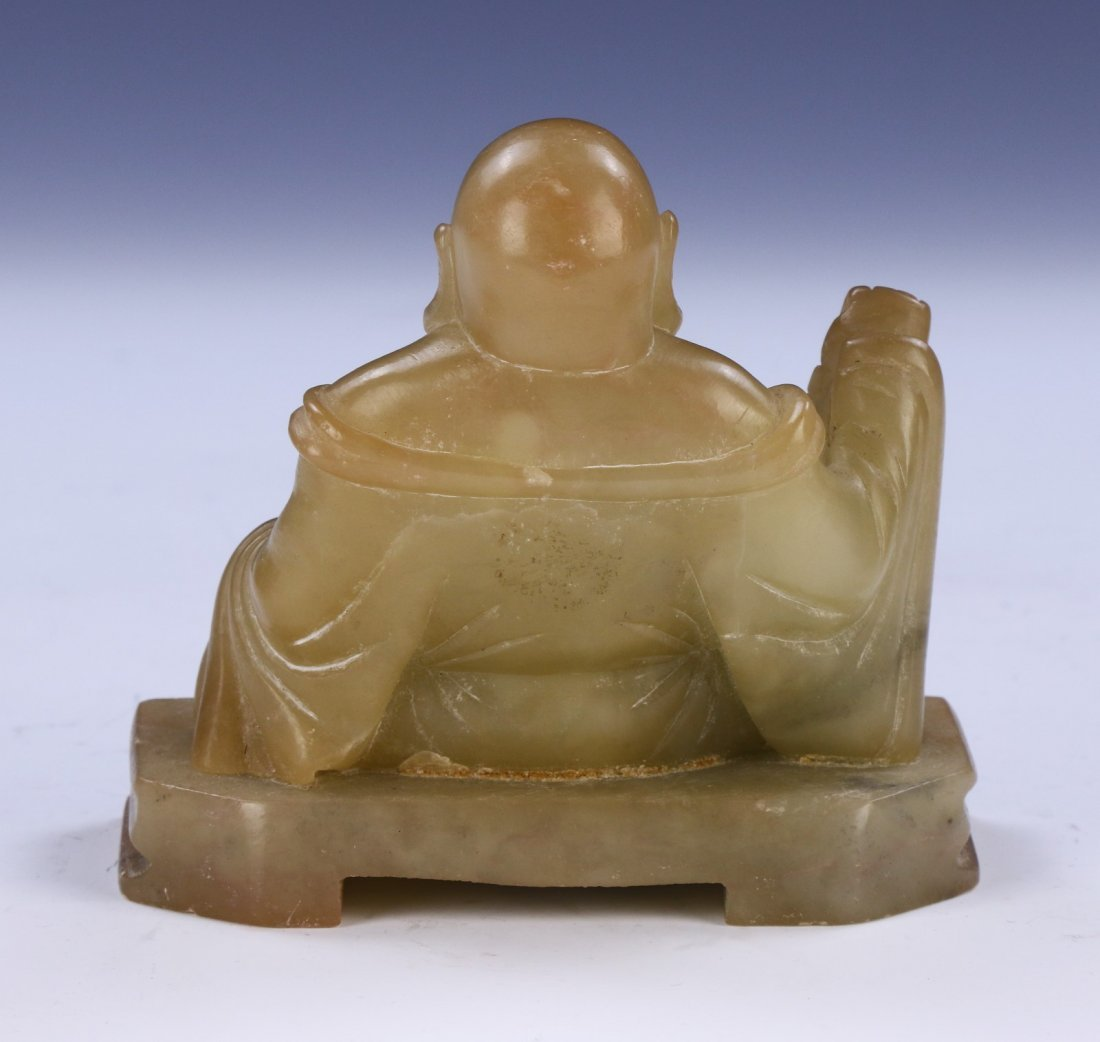 A Chinese Antique Soapstone Buddha - 2
