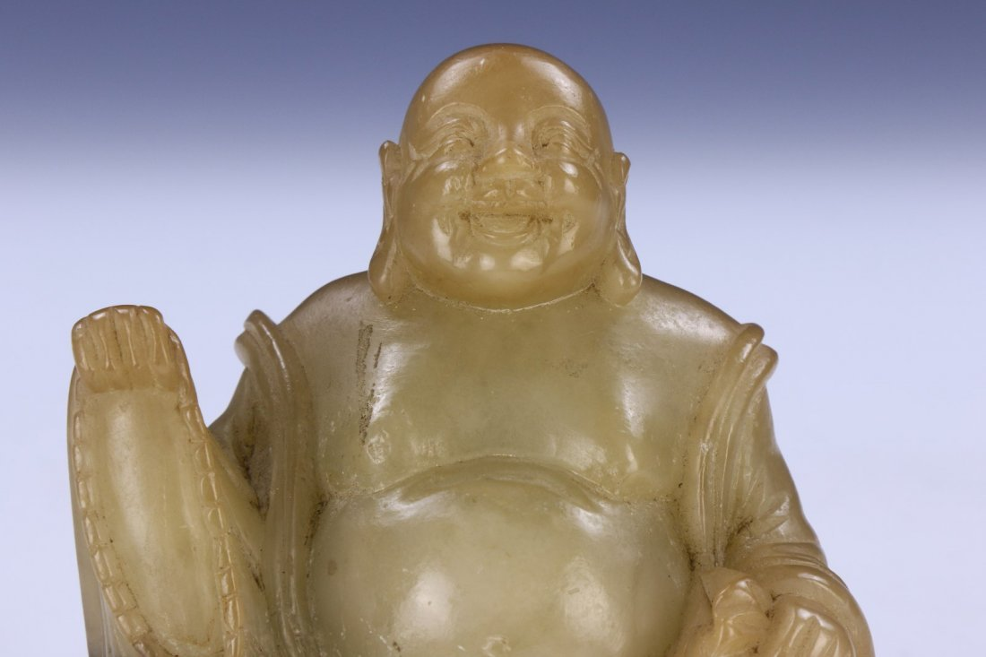 A Chinese Antique Soapstone Buddha - 3