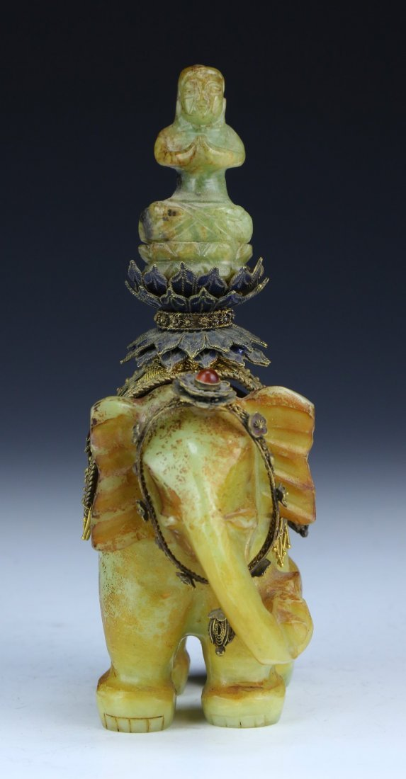 A Chinese Antique Jade & Cloisonne On Silver Figure - 4