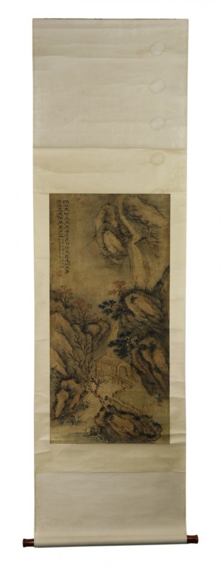 A Chinese Antique Paper Painting Scroll By Shi, Tao - 3