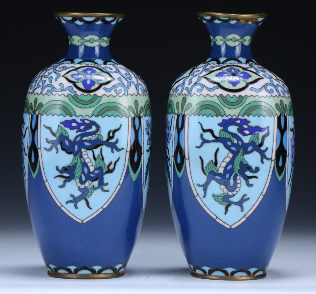 Pair Japanese Antique Cloisonne Vases