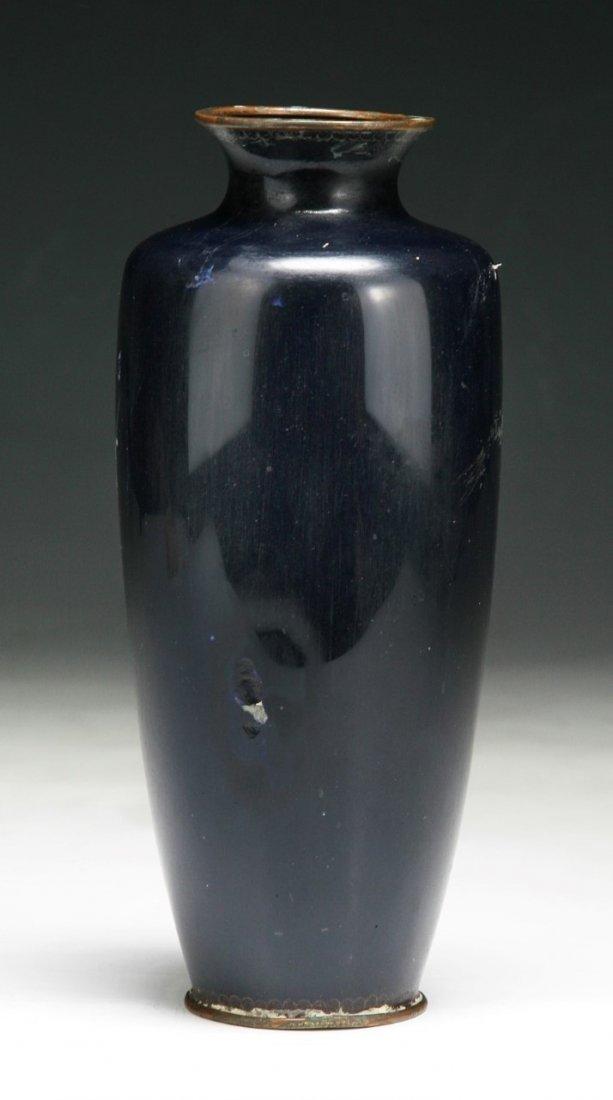 A Japanese Antique Silver Ando Cloisonne Vase - 2