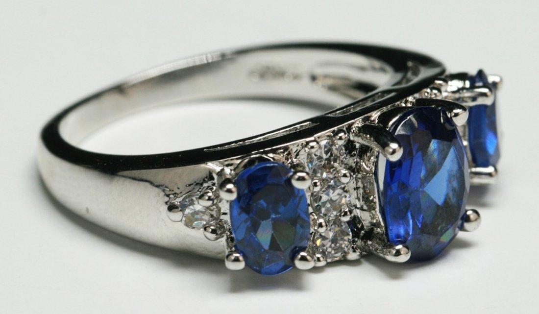 A Three Stone Sapphire Ring