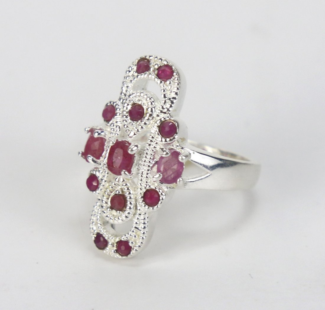 A Ruby Ring, 14K White Gold