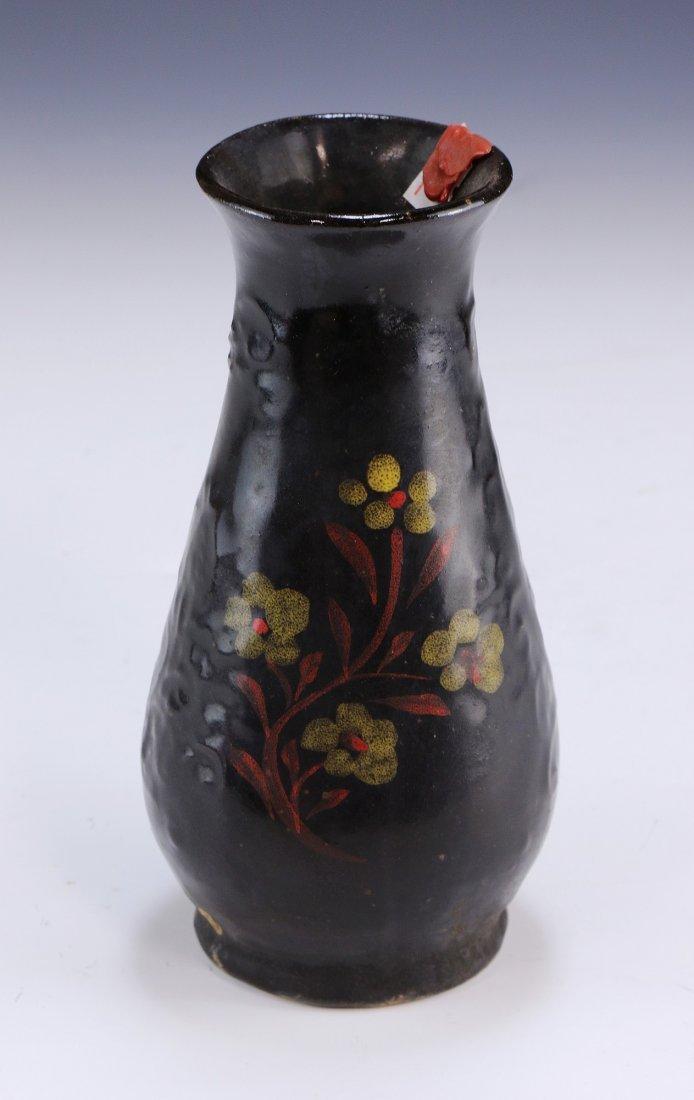 A Chinese Antique Black Glazed Porcelain Vase
