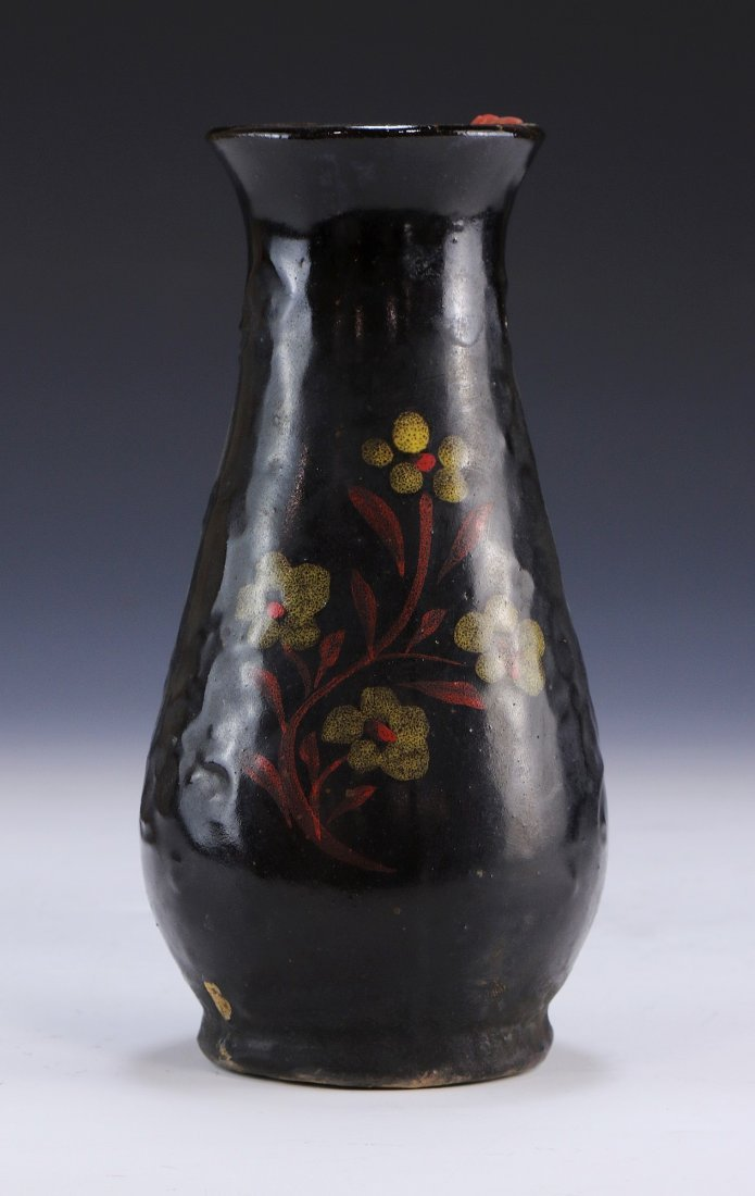 A Chinese Antique Black Glazed Porcelain Vase - 2