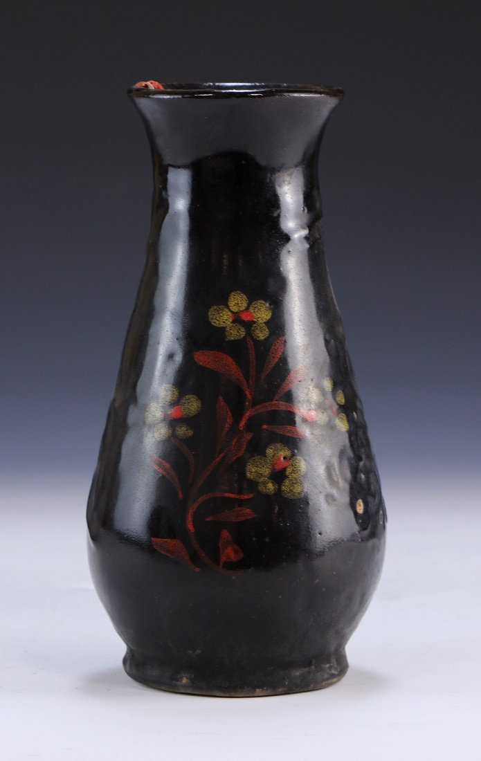 A Chinese Antique Black Glazed Porcelain Vase - 3