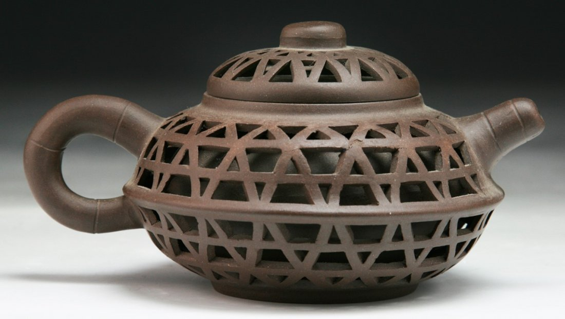 A Chinese Yixing Zisha Teapot With Cover - 2