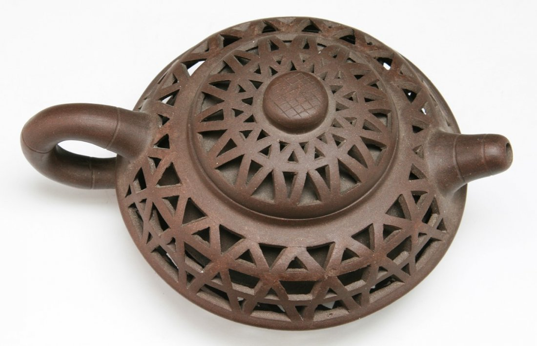 A Chinese Yixing Zisha Teapot With Cover - 3