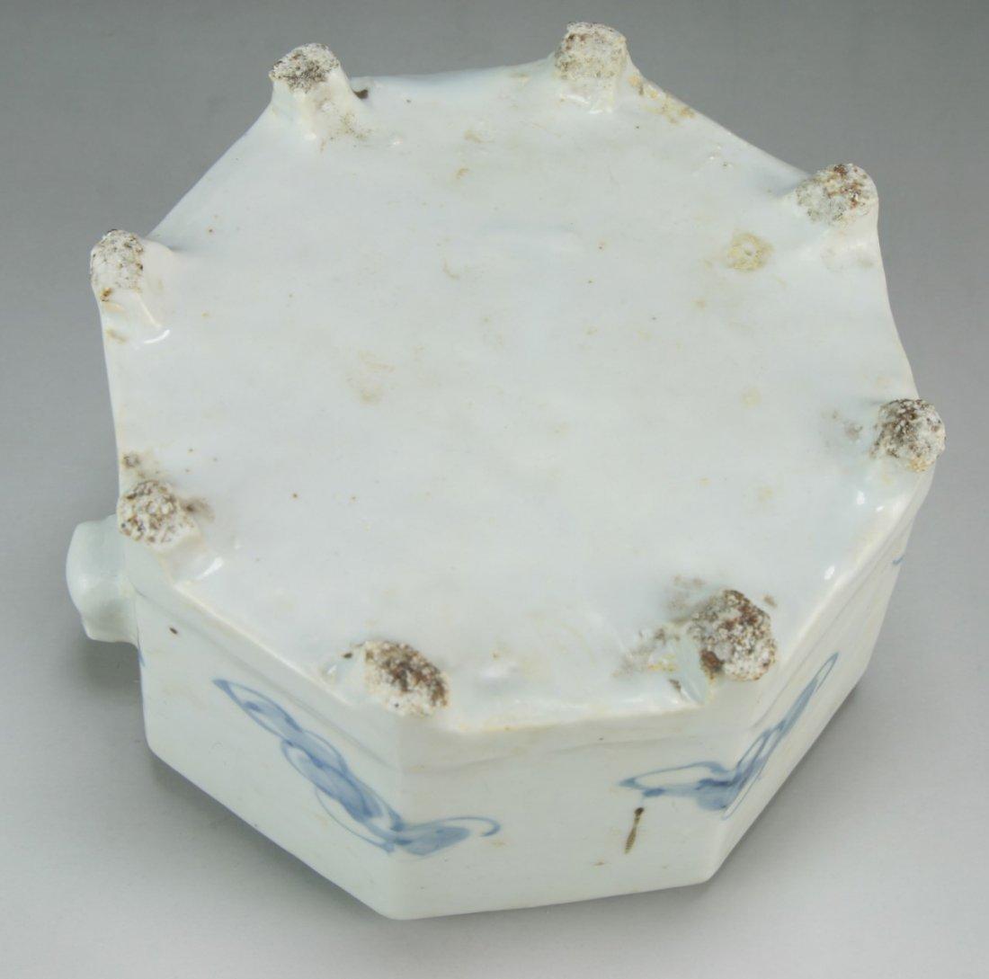 A KOREAN BLUE & WHITE PORCELAIN WATER DROPPER - 3