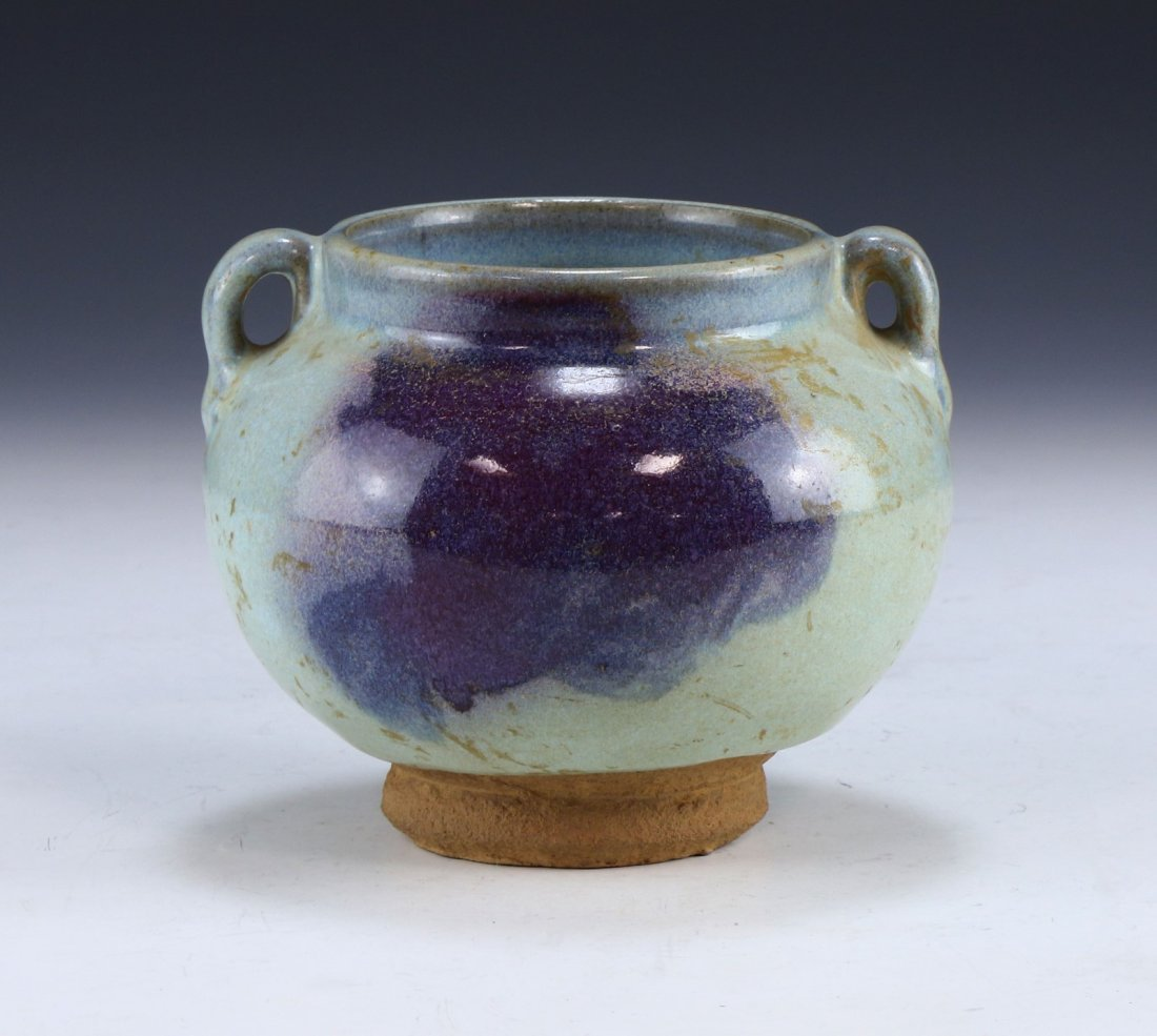A CHINESE ANTIQUE JUNYAO GLAZED PORCELAIN VASE