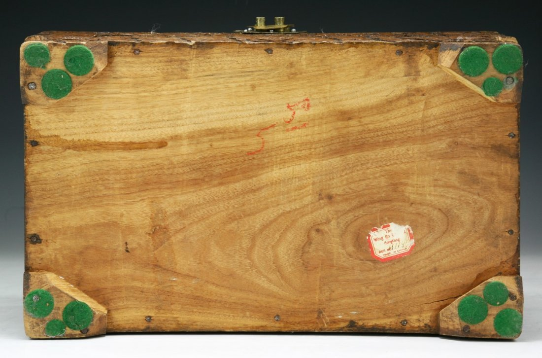 A CHINESE CAMPHOR WOOD BOX WITH COVER - 5