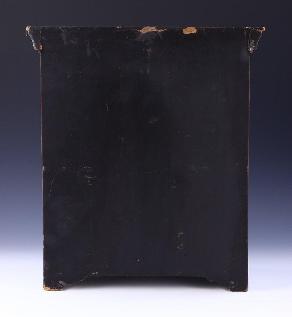 A CHINESE ANTIQUE LACQUER CABINET - 4