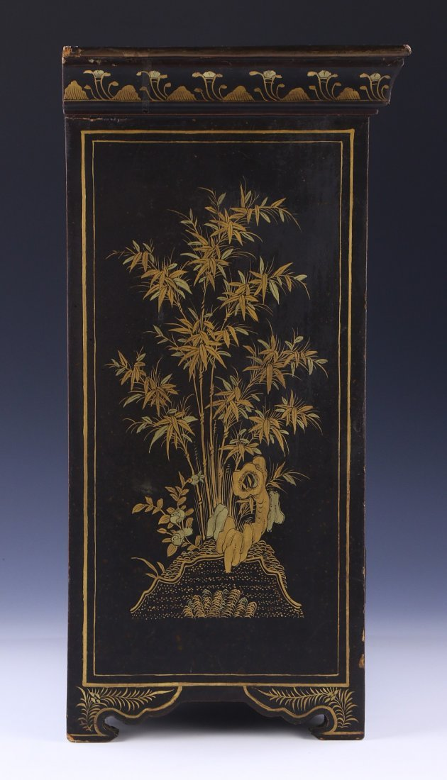 A CHINESE ANTIQUE LACQUER CABINET - 5