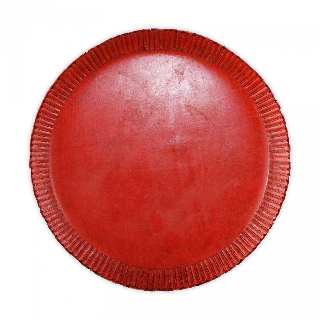 A Chinese Antique Red Cinnabar Lacquer Lidded Case - 4
