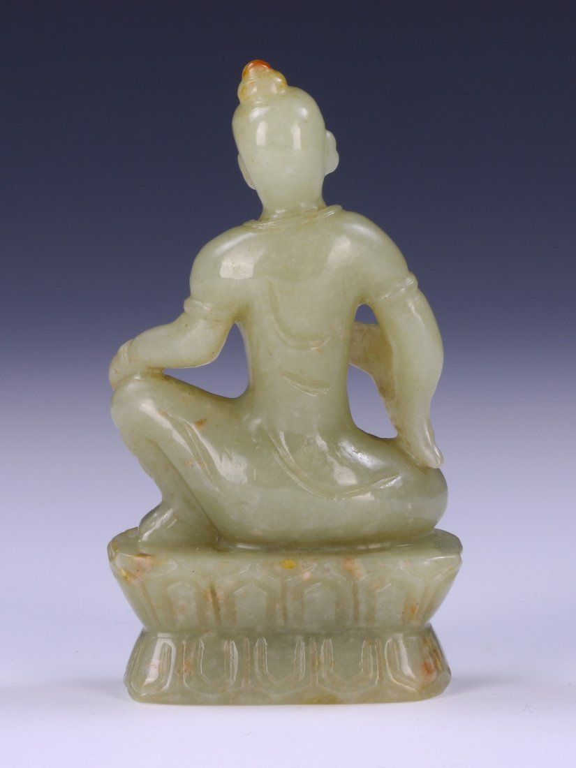 A CHINESE JADE CARVED BUDDHA - 2